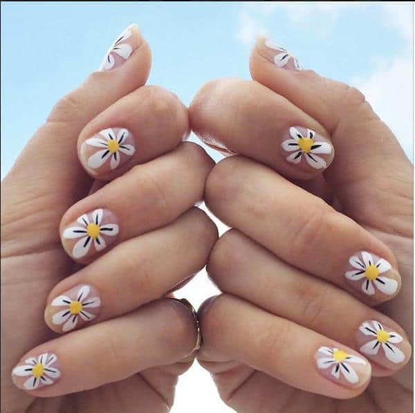 Excellent Floral Nails Art for Women