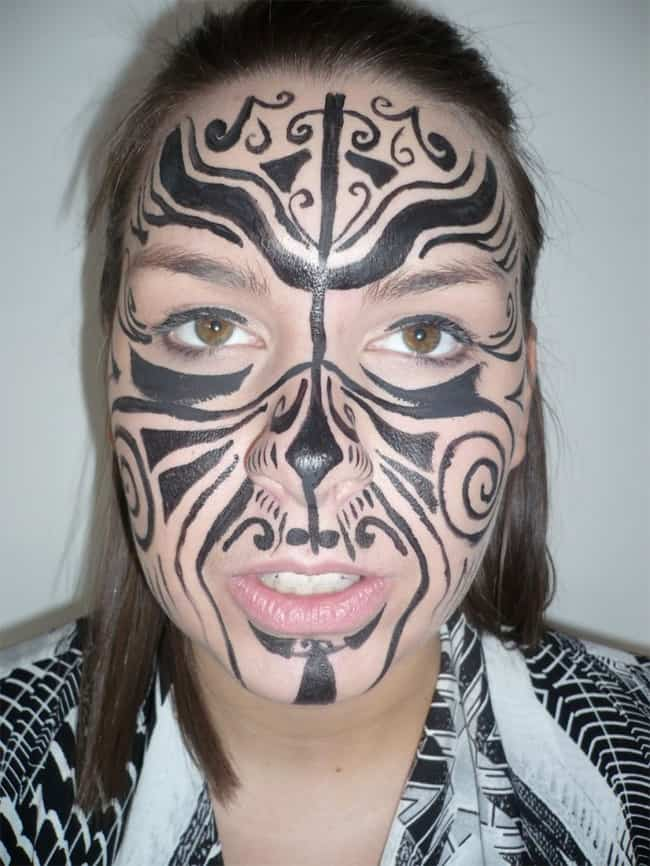 Face Maori Tribal Tattoo Design Pictures