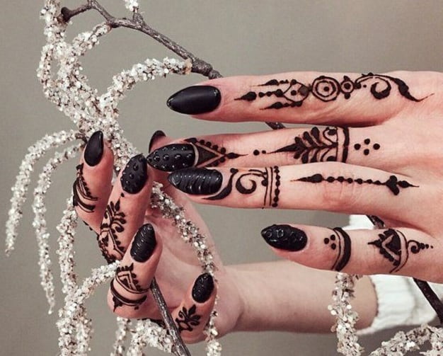 Fantastic Finger Henna Art Pictures 2016