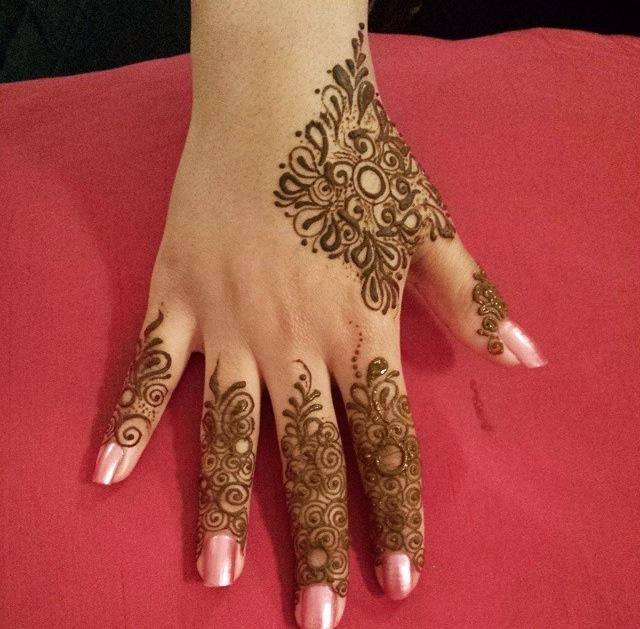 Fingers Mehndi Design Ideas for Eid