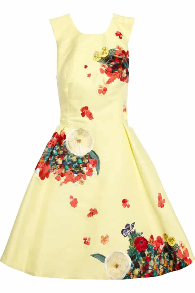 Floral Embroidered Dresses in Cotton Fabric