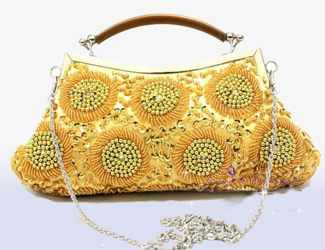 Fresh Beaded Floral Royal Handmade Handbags