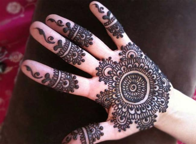Fresh Gujarati Rangoli Mehndi Art for Girls