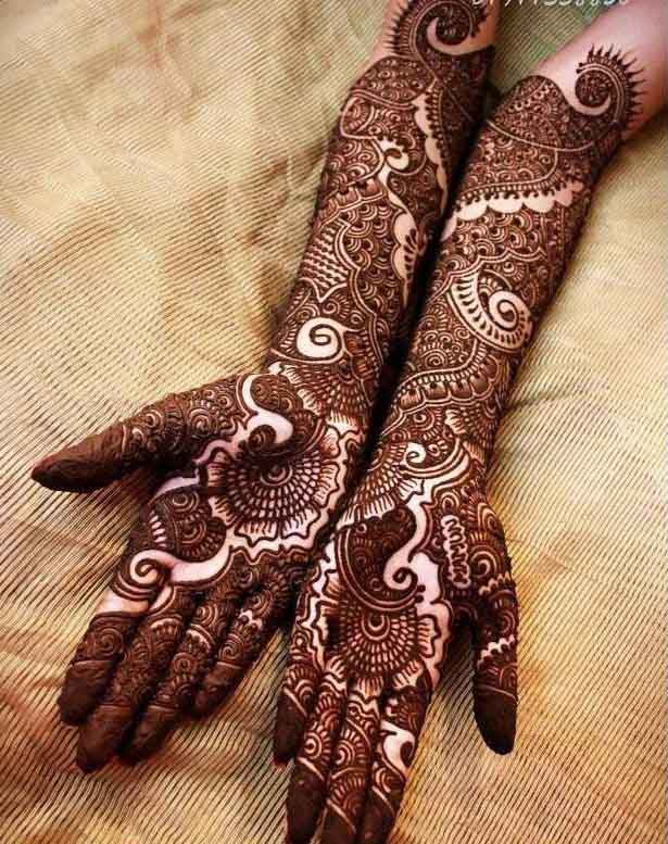 Full Hand Bridal Henna Designs for Wedding