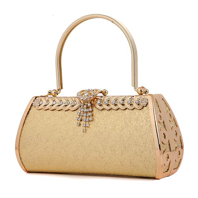 Golden Women Handbags Designs - wedding handbags