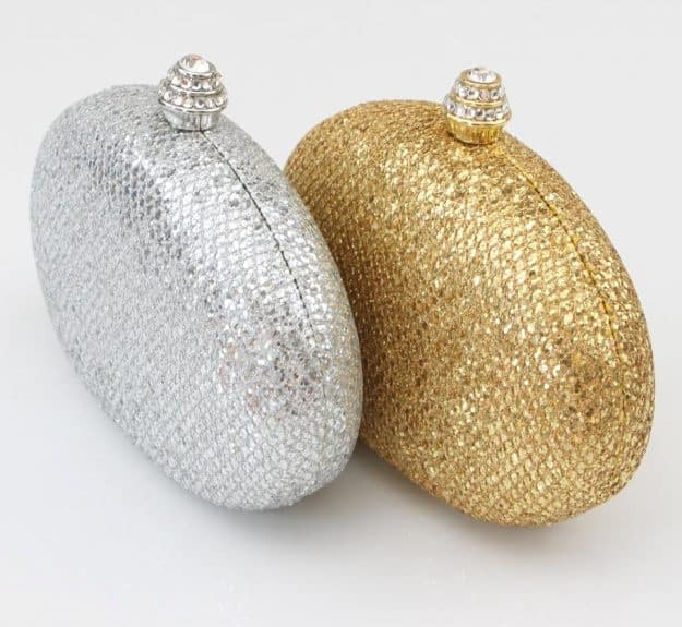 Golden and Silver Bridal Purse for Wedding - wedding handbags