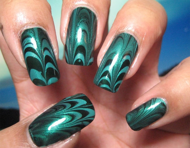 Good Water Marbling Nails for Women