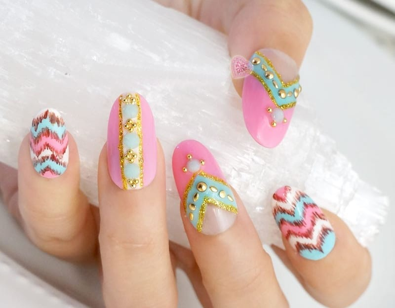 Great Japanese Nail Art Design for Brides