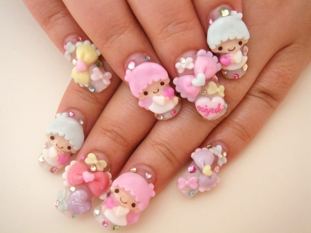 Top 30 Latest and Cool Japanese Nail Art Ideas - SheIdeas