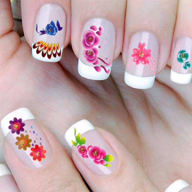 Ladies Flower Nail Art Pictures