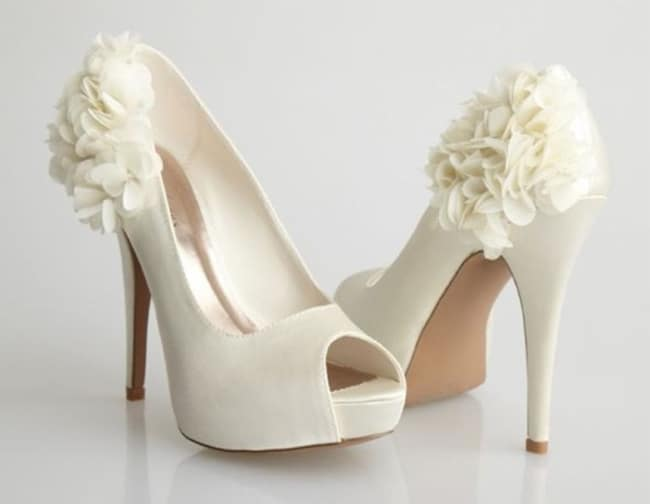 Ladies White Bride Shoes for Wedding
