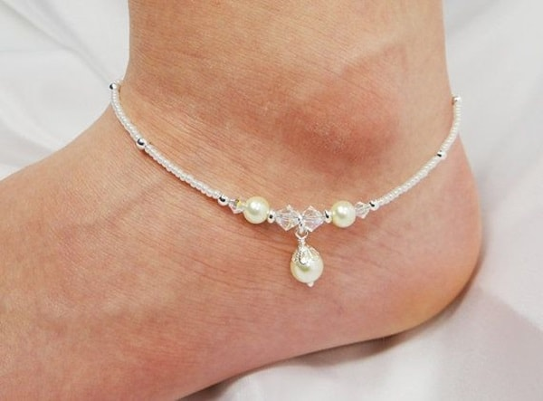 sandals barefoot from beach model anklets cotton handmade jewelry anklet yoga item accessories bridal cool crocheted on in