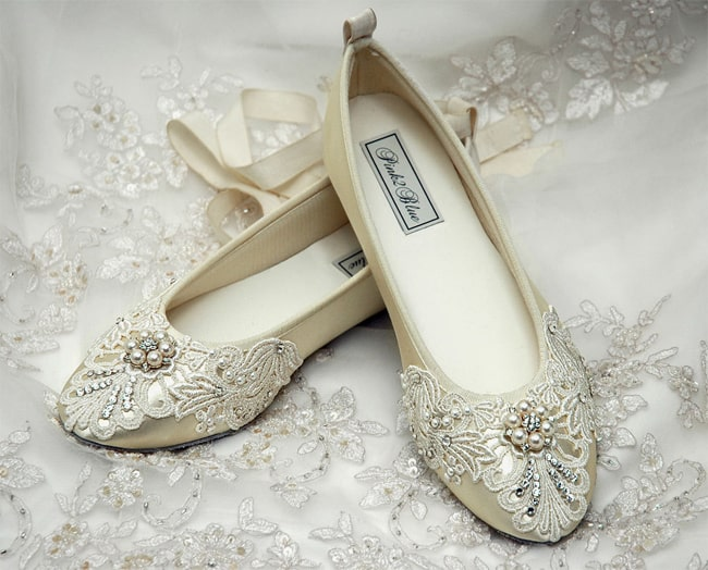 Latest Bridal Flat Ballet Shoes Ideas