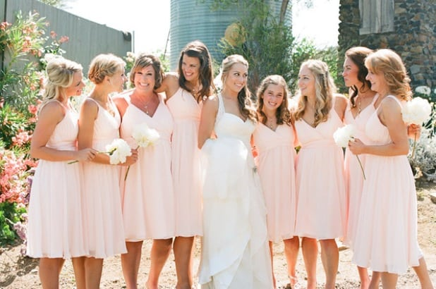 Latest Bridesmaid Blush Dresses for Women