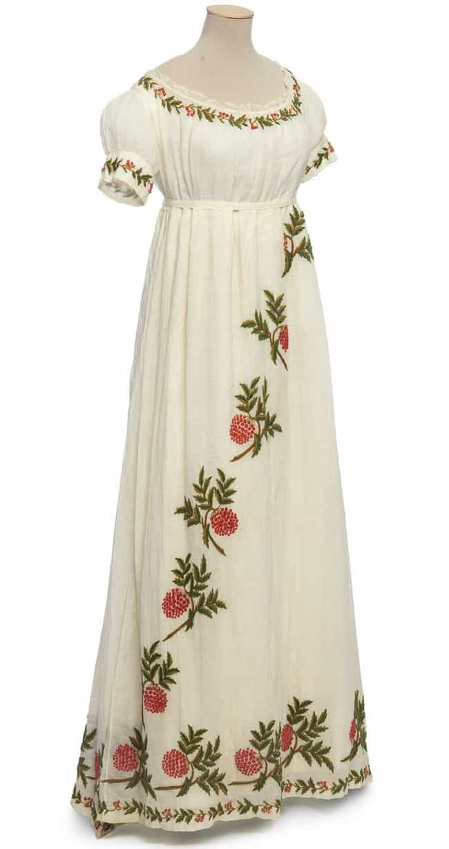 Latest Embroidered Dress in White Cotton