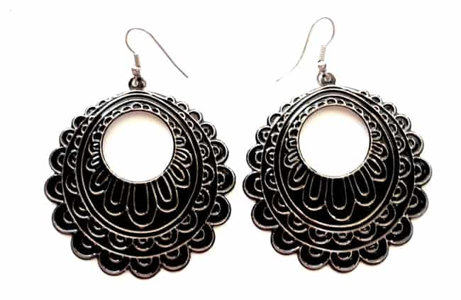 Latest Hard Metal Black Earrings for Girls