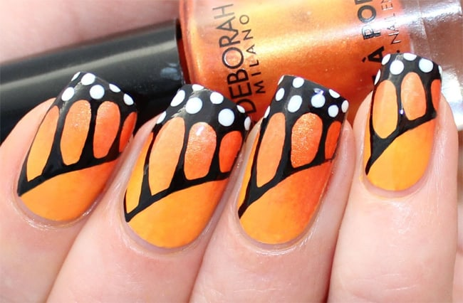 Latest Monarch Butterfly Nail Design Ideas