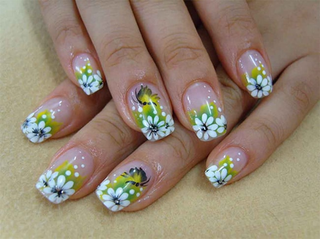 Latest Nail Art Flowers Ideas