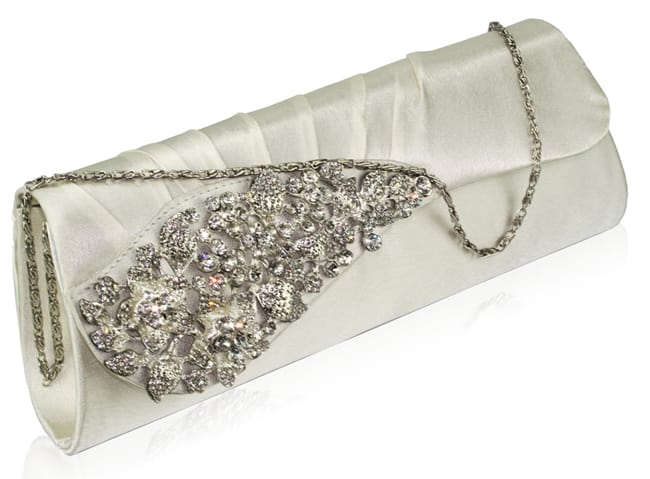 Latest Silver Crystal Clutch Bag 2016
