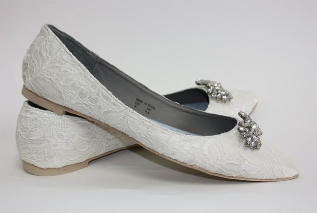 Latest Wedding Flat Shoes for Girls