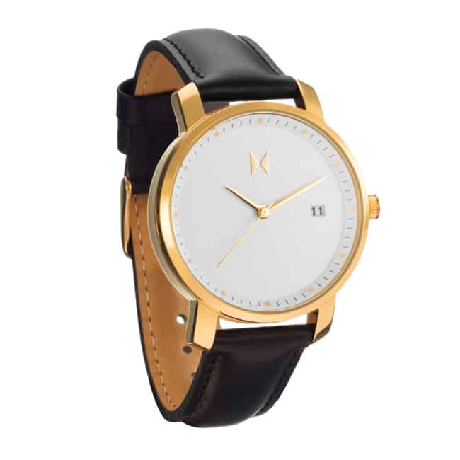 Leather Bracelet Golden Watches for Christmas 2016