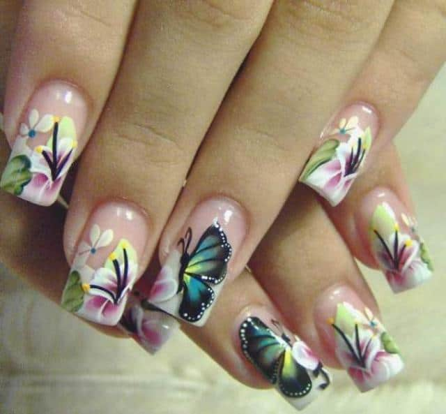 New Butterfly Style Airbrush Nails Ideas