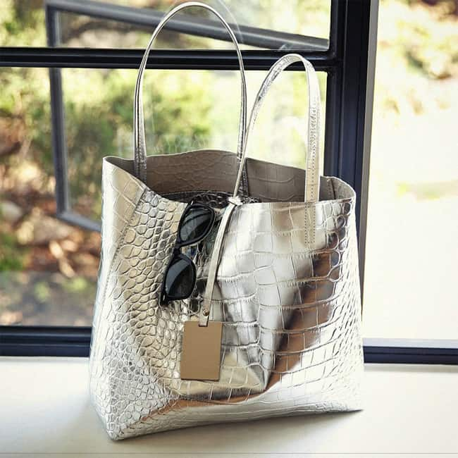 New Designer Silver Golden Totes Hand Bags