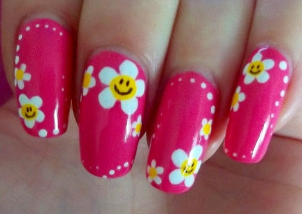New Flower Nail Designs for Long Nails