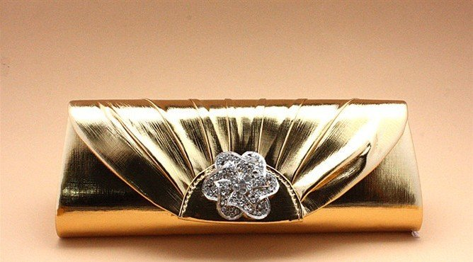 New Gold Shiny Crystal Clutch for Bridesmaid