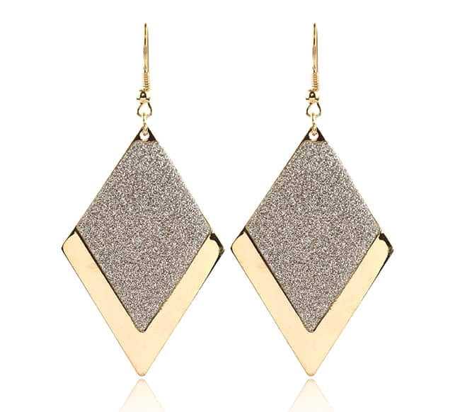 New Gold and Silver Drop Earrings Jewelry