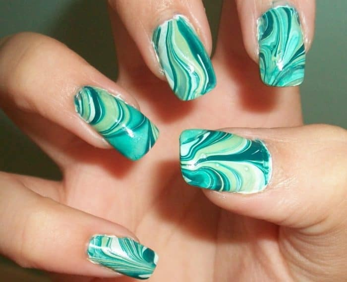 New Water Marble Nail Design Ideas - 20 Amazing Water Nail Art Ideas Collection - SheIdeas