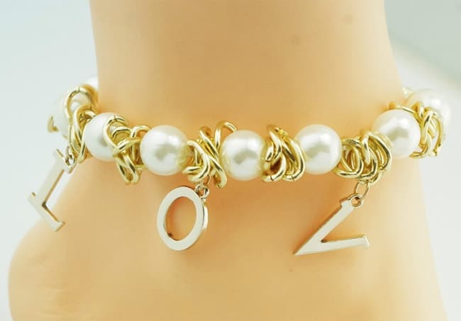 Pearl Love Ankle Bracelet for Wedding