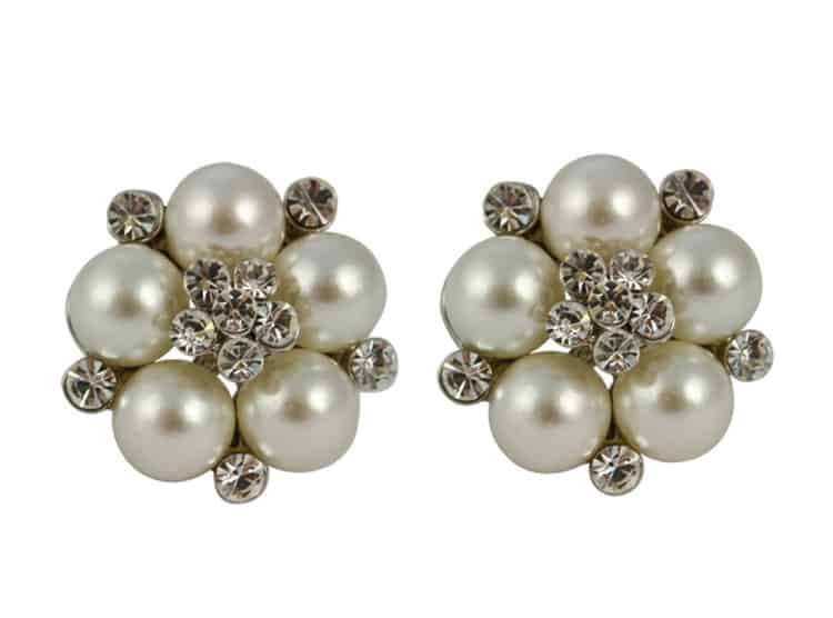Pearl Stud Earrings for Evening Party