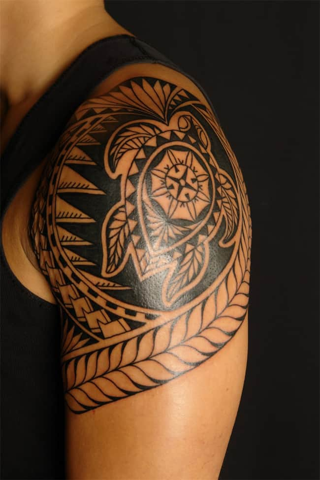 Polynesian Maori Frog Tattoos Art for Shoulder