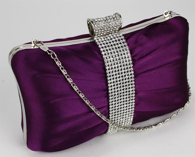 Purple Evening Party Clutch Handbags