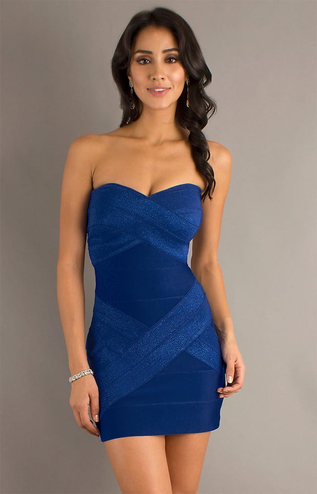 Royal Blue Color Short Dress for Girls