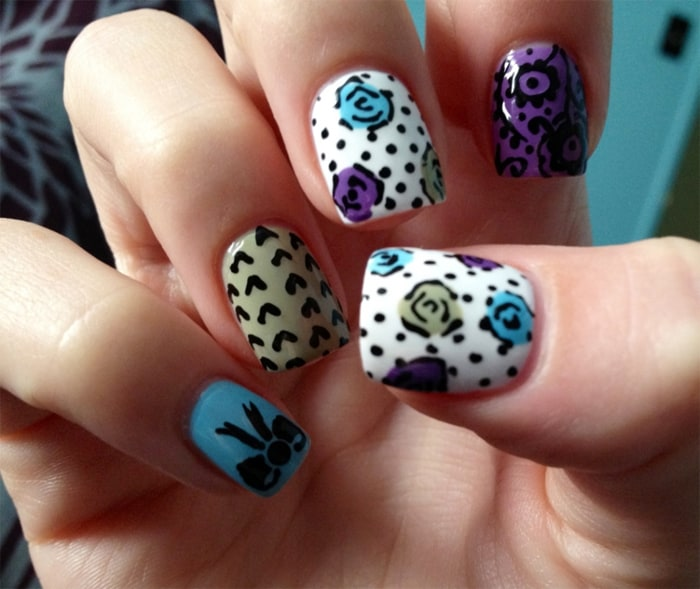 25 Astonishing Flower Nail Designs for Inspiration - SheIdeas