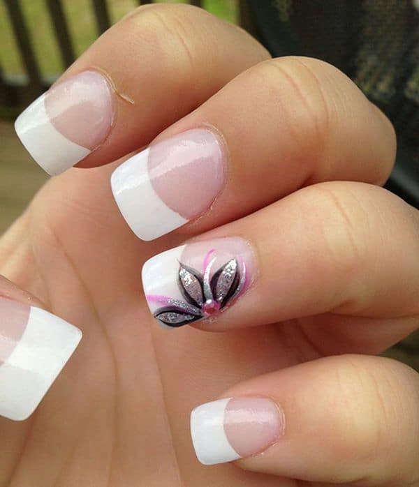 Simple Flower Nail Designs for Girls
