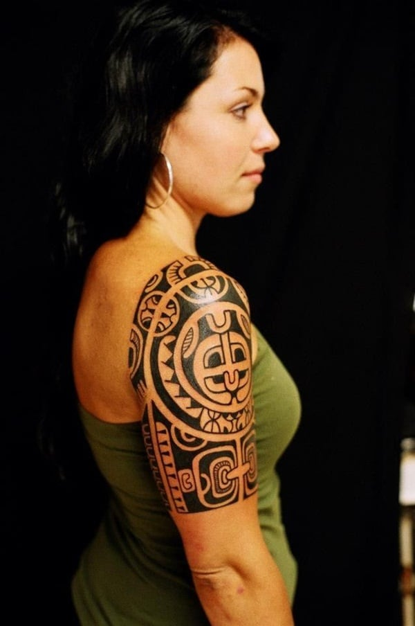Spiral Shapes Maori Tattoos for Women