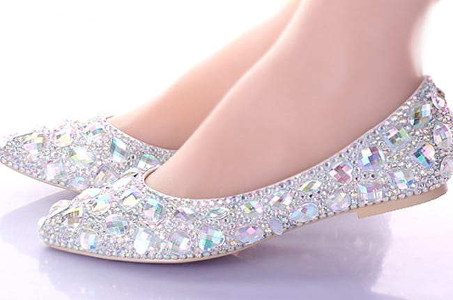 Stylish Bridal Crystal Wedding Shoes