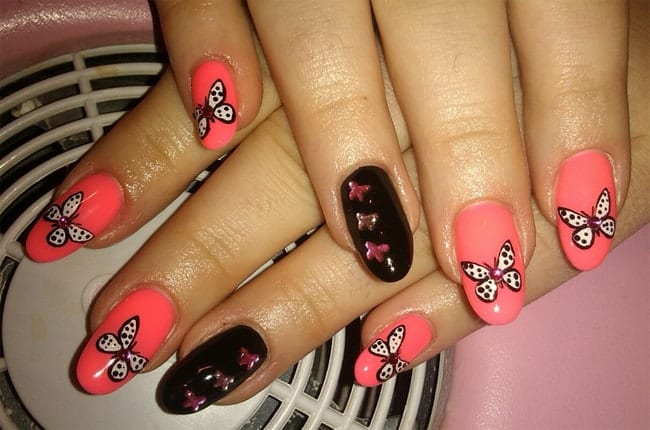 Stylish Butterfly Nails Ideas for Girls 2016