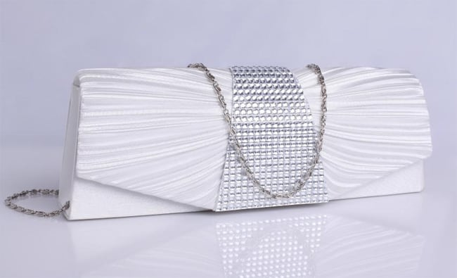 Stylish Silver Clutch Bag for Prom 2016-17