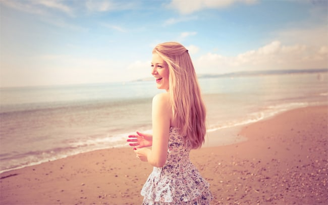 Summer Girl on Beach Photography Ideas