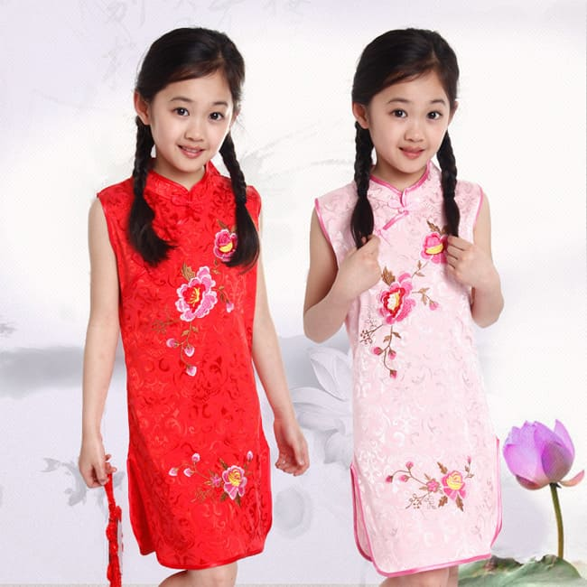 Summer Little Girls Embroidered Cotton Dresses