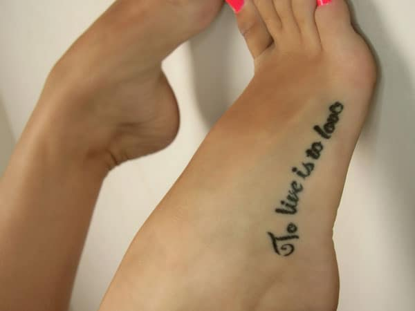 To Live Is To Love Meaningful Tattoos