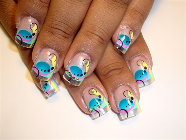 Trendy Airbrush Nail Designs for Girls