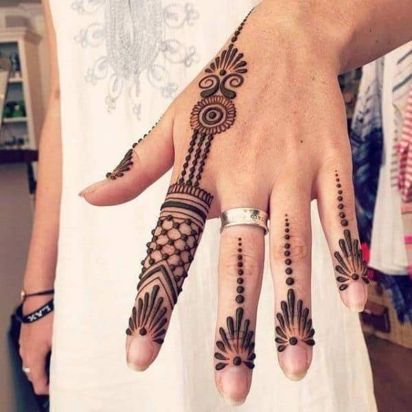 Trendy Fingers Mehndi Ideas for Girls