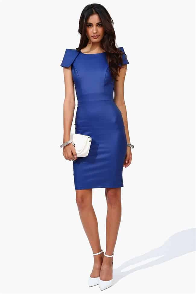 Trendy Milenium Dress in Royal Blue for Girls