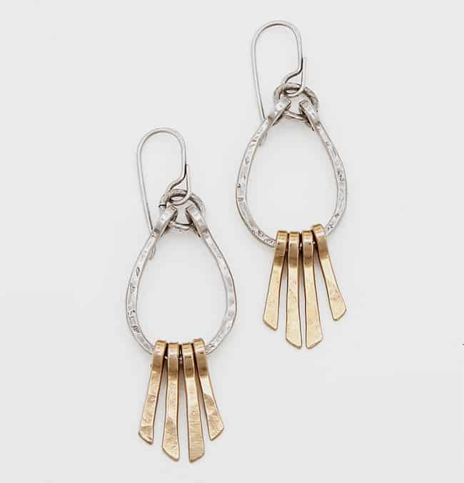 Trendy Mixed Metal Earring for Party