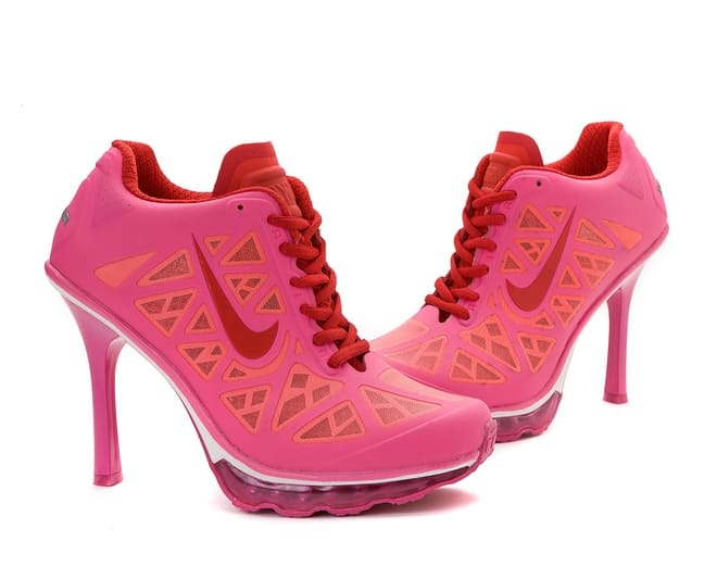 Trendy Women Pink High Heel Sneakers